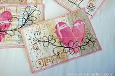 Terri Stegmiller Art Quilts: Valentine's Day Postcard Tutorial