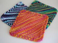 2 Ways To Knit Diagonal Dishcloths (Holes or No-Holes ...