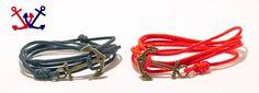 Horgonyos páros karkötő - vörös és tengerészkék, díszes horgony Karkötő pároknak Paros, Bracelets, Jewelry, Fashion, Moda, Jewlery, Jewerly, Fashion Styles, Schmuck