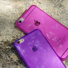 Purple and Pink Jell Cases for iPhone