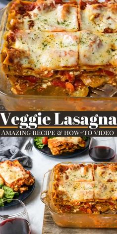 Watch how to layer the perfect Veggie Lasagna! This is an amazing recipe for vegetable lasagna, it makes a great vegetarian dinner. Vegetable Lasagna Recipes, Vegetarian Lasagna Recipe, Lasagne Recipes, Tasty Vegetarian Recipes, Easy Lasagna Recipe, Vegetarian Dinners, Veggie Dishes, Easy Pasta Recipes, Vegetable Recipes
