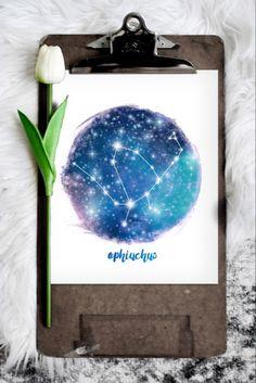 Fun Christmas Photos, Ophiuchus Zodiac, Mermaid Invitations, Zodiac Constellations, Zodiac Art, Bedroom Art, Affordable Art, Decorating On A Budget, Printable Art