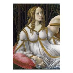 Detail of #Venus, Venus and #Mars by #Botticelli #Invitation
