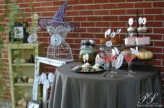 adult halloween dessert table