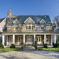 2 Story Brick With Front Porch Exterior Design Ideas, Pictures, Remodel and Decor