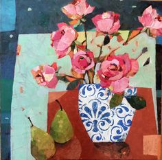 Sally Anne Fitter : Roses and Two Pears