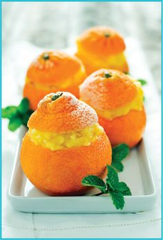 Frozen Clementine Sorbet... (sub honey for sugar) Great summer recipe and love the presentation!