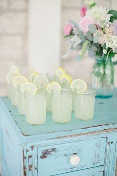 Lemonade for a shabby chic backyard bbq