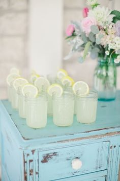 Lemonade for a shabby chic backyard bbq