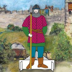 Medieval Foot Soldier Battle of Lincoln Dressing Up Dolls Pack, Lincoln Castle, Lincoln Cathedral, La Haye, Unique Cards, Knights, Paper Dolls, Medieval, Battle, Trail