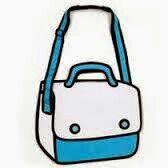 Bolsa azul animada :3