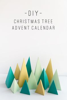 tell love and chocolate: TELL: DIY CHRISTMAS TREE ADVENT CALENDAR
