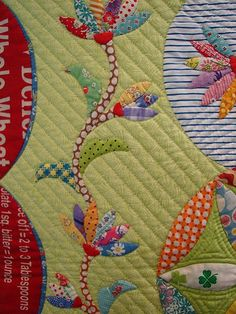 beautiful applique from Tokyo International Quilt Festival-LOVE the variety of this