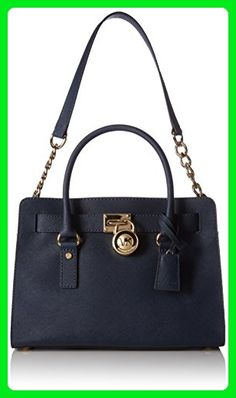 ae4414da29c1 Satchel Handbags, Handbags Michael Kors, Navy Gold, Michael Kors Hamilton,  Clutch Wallet