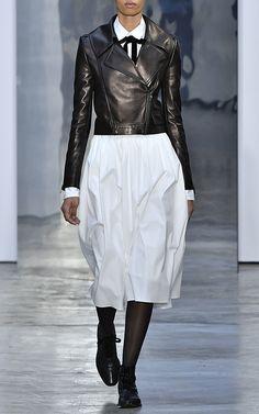 Leather Moto Jacket by CAROLINA HERRERA for Preorder on Moda Operandi
