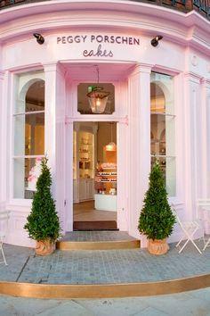 Ruta por Londres: Peggy Porschen Cakes - Whole Kitchen Restaurant Interior Design, Cafe Interior, Peggy Porschen Cakes, Cute Store, London Cake, Bakery London, Bakery Shops, London Pubs, London Food