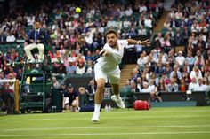 Stan Wawrinka takes on Juan Martin del Potro on Centre Court on Day Five