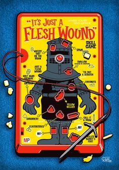 """Flesh Wound"" Operation wood print by Captain Ribman - hee!"