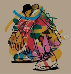 Tyler The Creator Tattoos, Golf Le Fleur Shoes, Graphic Design Illustration, Illustration Art, Illustrations, Screen Printing, Cool Art, Behance, Character Design