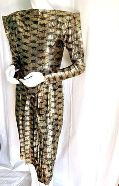 haute couture fashion Archives - Best Fashion Tips Thierry Mugler, Vogue Photoshoot, Tips Fitness, Gold Lame, Swing Coats, 80s Dress, Vintage Couture, Fitness Studio, Gold Dress