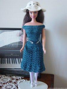 Teal Barbie Dress