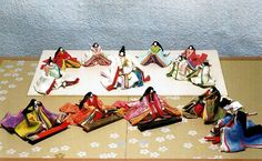 The Tale of Genji.  A complex set of dolls set during the heian era.