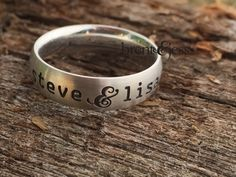 From www.brentjess.com - You and Me Personalized Name Ring In Sterling Silver  - Custom handmade fingerprint jewelry by Brent&Jess