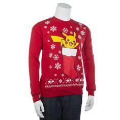 Big & Tall Pokemon Pikachu Stocking Stuffer Holiday Sweater $14.99
