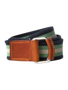 Tommy Hilfiger Stripe canvas belt