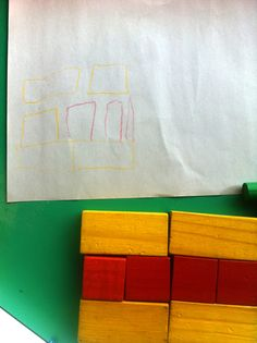 Bring blocks to the Art Area!  The children in this class had so much fun using art materials to depict their block creations. The teacher was able to have rich conversations and to observe and document children's skills and understanding of spatial relationships and shapes. After the initial activity, you can do so many things with the children's drawings. Consider sharing them with families; this encourages child-initiated conversations about class projects. We'd also love to hear your ideas! Creative Curriculum Preschool, Preschool Classroom, Art Classroom, Classroom Activities, Preschool Ideas, Classroom Ideas, Kindergarten, Teaching Strategies Gold, Teaching Ideas