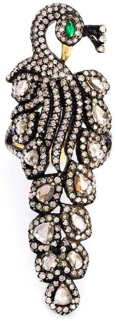 Kirat Young pavé diamond peacock ring Peacock Ring, Peacock Jewelry, Jewelry Accessories, Jewelry Design, Jewelry Ideas, Peacock Pictures, Alexandrite, Brilliant Diamond, Exotic Birds