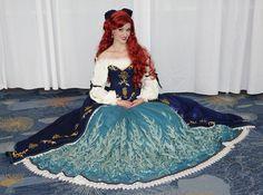 Fabulous Ariel dress by Glimmerwood Ariel Cosplay, Disney Cosplay, Cosplay Dress, Day Dresses, Blue Dresses, Girls Dresses, Ariel Dress, Princess Style, Princess Fashion