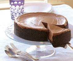 [a] This is, hands-down, the best chocolate cheesecake recipe I have ever tried. Triple-Chocolate Cheesecake Recipe by Fine Cooking