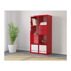 "$65.99 30 3/8 x 57 7/8 "" KALLAX Shelf unit - high gloss red - IKEA"
