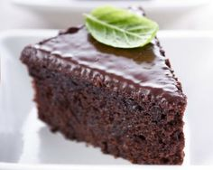 chocolate-basil cake. my friend sarah made this & i tried it last night. it's spicy and rich. yummm.