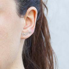 Reino Unido Nuevo Par De Plata Diamante Cristal Flor /& Wave Stud Piercing pendientes Regalo