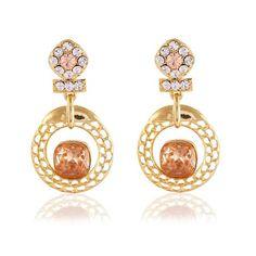 Orange & Gold Online Shopping Jewellery Earring Set ,Indian Dresses
