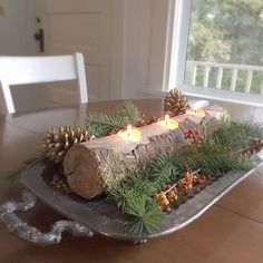 A personal favorite from my Etsy shop https://www.etsy.com/listing/253692907/rustic-log-candle-holder-long-tree