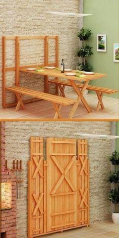Backyard table space saver
