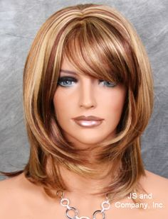 Wonderful straight layered Blonde Red Auburn mix wig JSDD RS29 in Clothing, Shoes & Accessories, Women's Accessories, Wigs, Extensions & Supplies | eBay