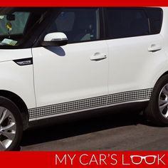 KIA SOUL 2014 - Houndstooth side stripe decal #MyCarsLook