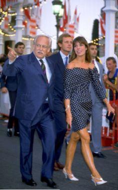 Princess Caroline with father Prince Rainier of Monaco and husband Stefano Casiraghi.July 21,1988.