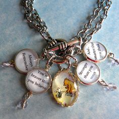 Winnie the Pooh Bracelet  Always Remember You're by Msemrick, $40.00