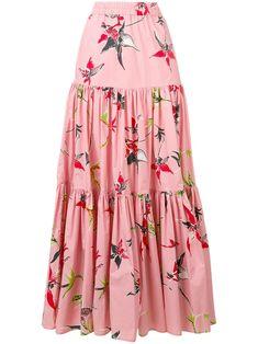 La Doublej long printed skirt skirt skirt skirt skirt outfit skirt for teens midi skirt Midi Rock Outfit, Midi Skirt Outfit, Skirt Outfits, Dress Skirt, Modest Outfits, Swag Dress, Summer Outfits, Dress Shoes, Long Sleeve Floral Dress