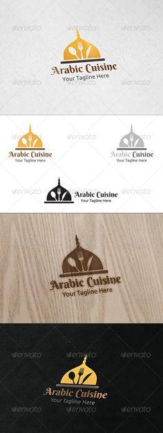 Arabic Cuisine - Logo Template by martinjamez Logo Vector Color Variations : Gradient, Flat, Greyscale & Black File Format :AI & EPSColor Mode :CMYKFont used : Ber Food Graphic Design, Food Logo Design, Logo Food, Word Template Design, Print Templates, Logos, Logo Branding, Owl Logo, Halal Recipes