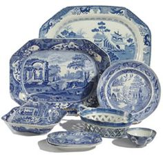 Selection of Blue & White Porcelain Always a wide variety in stock.