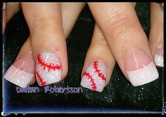 Y'all about to see a baseball mom! Baseball Nail Designs, Baseball Nail Art, Cute Nail Designs, Baseball Mom, Softball Nails, Baseball Birthday, Baseball Field, Really Cute Nails, Love Nails
