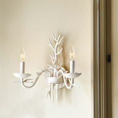 A new addition to our best-selling Coral Lighting collection, this wall sconce is a great choice for a sunroom or covered porch. Candle Wall Sconces, Wall Sconce Lighting, Home Lighting, Seashore Decor, Decorating A New Home, Decorating Ideas, Chandelier Lamp Shades, Wooden Bar Stools, Ballard Designs