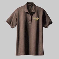 Embroidered Music Notes with Rose Ladies Silk Touch Polo  Pick your favorite Ladies Silk Touch Polo color.  A tried-and-true customer favorite, our comfortable classic sport shirt is anything but ordinary. With a silky smooth hand and easy care blend, it's a first-rate choice for uniforming just about any group. | 5-ounce, 65/35 poly/cotton pique Knit collar and cuffs Double-needle armholes and bottom hem Metal buttons with dyed-to-match rims Side vents