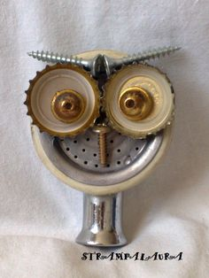 recycle owl, shower